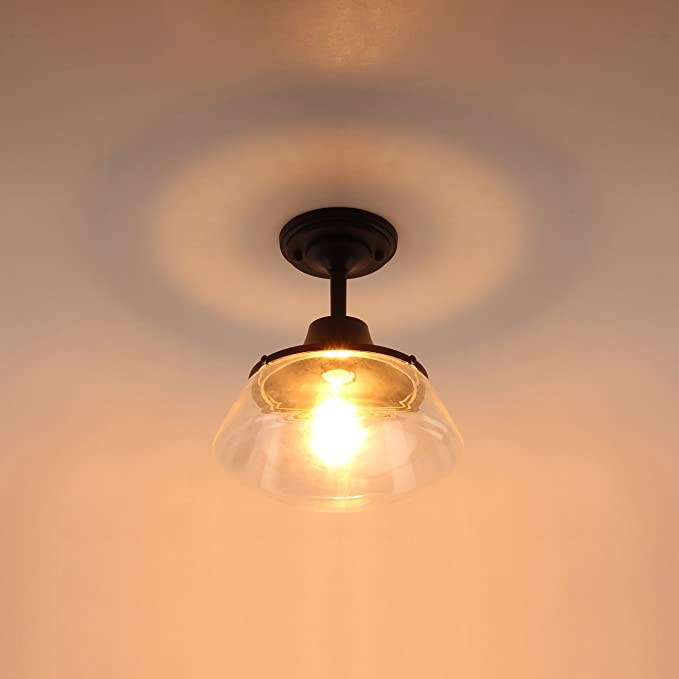 Amazon.com: Industrial Semi Flush Mount Ceiling Light ...