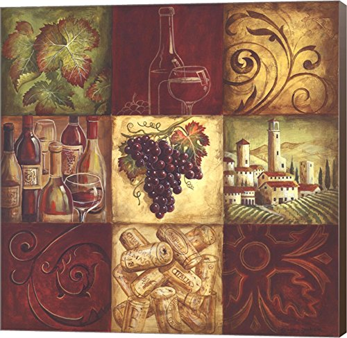 Tuscan Wine II by Gregory Gorham Canvas Art Wall Picture,