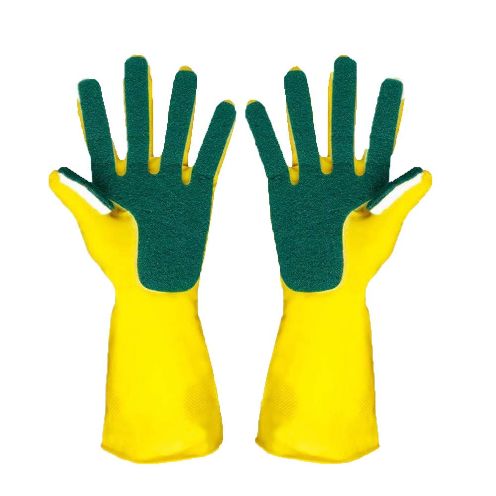 Y56(TM) Magic Silicone Gloves with Wash Scrubber Reusable Sponge Brush Silicone Dish Scrubber Heat Resistant Gloves Kitchen Tool for Cleaning, Household, Dish Washing, Washing the Car