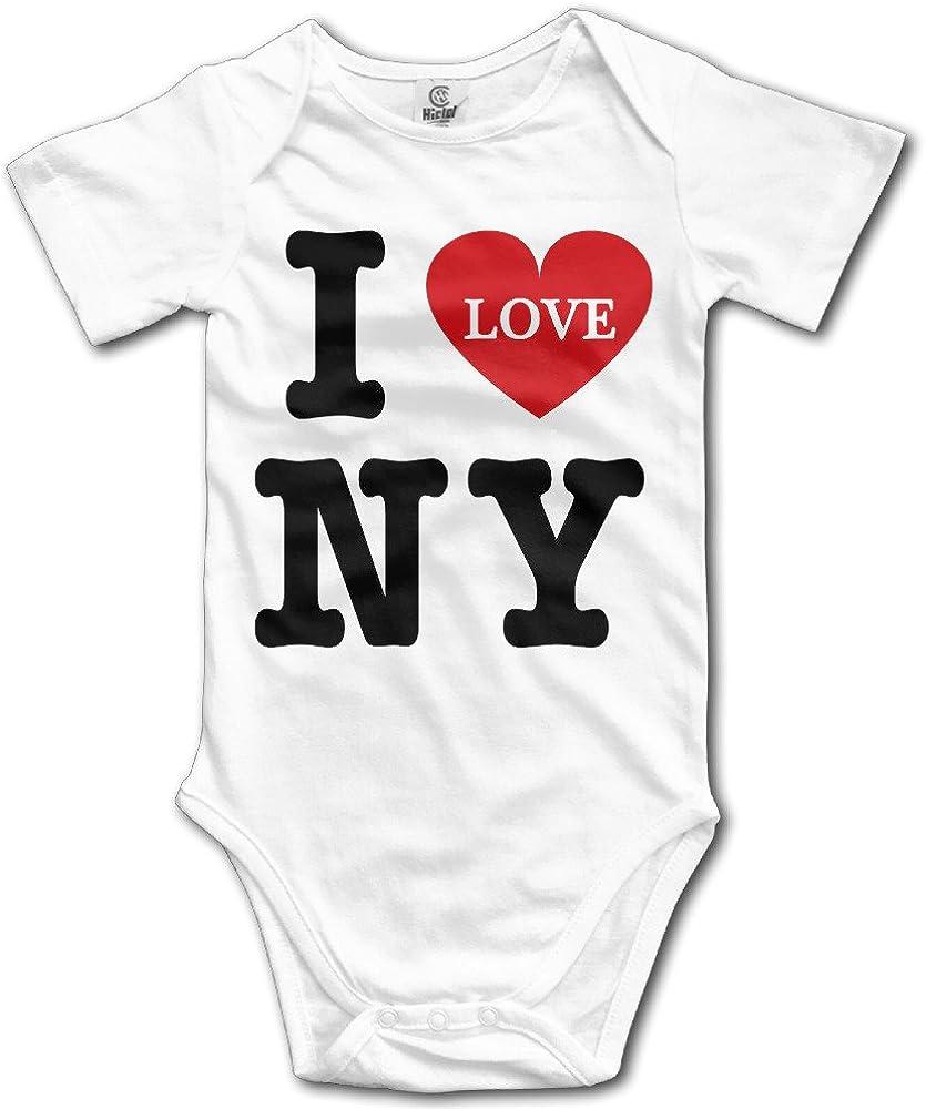 Baby-Boys I Love NY New York Short-Sleeve Bodysuit Onesies