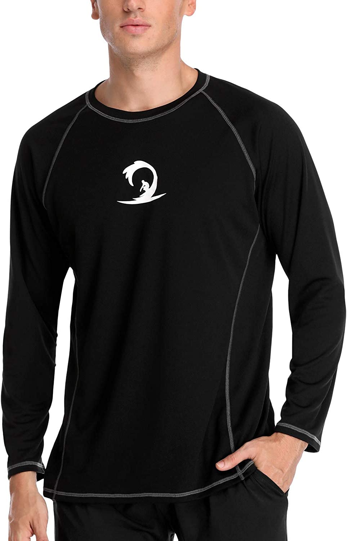 Sociala Men'S Upf 50+ Rashguard lange Sleeve Swim Shirt Loose passen Athletic T-Shirts
