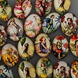18x25mm Oval One Style Mix Pattern Photo Glass Cabochon-20pcs/lot (C4545)