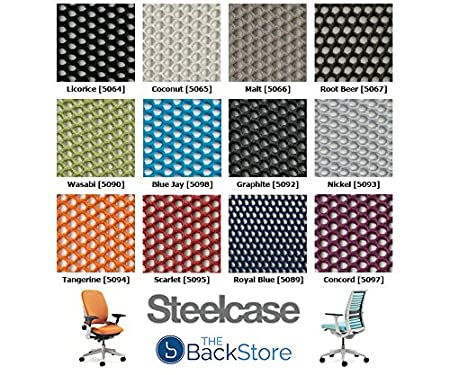 Amazon.com: Steelcase Think 3D Knit Office Desk Chair Black Frame Fixed Arms - Fixed Lumbar Support - Licorice Fabric with Standard Casters: Kitchen & ...