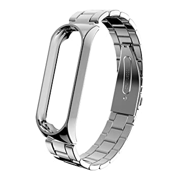 Zolimx Pulsera de Acero Inoxidable de Lujo Reloj Banda Correa para Xiaomi Mi Band 3 Smartwatch