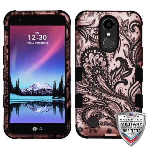 MyBat Cell Phone Case for LG Harmony, LG V5/TP2608 (K20 PLUS), LG K10 (2017), LG VS501 (K20V) - Phoenix Flower (2D Rose Gold)/Black (Phoenix Flower)
