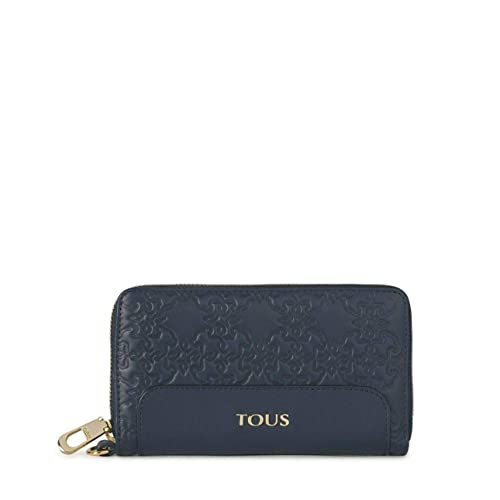 Tous Cartera de Piel Color Azul Medio 69-596-006-3: Amazon ...