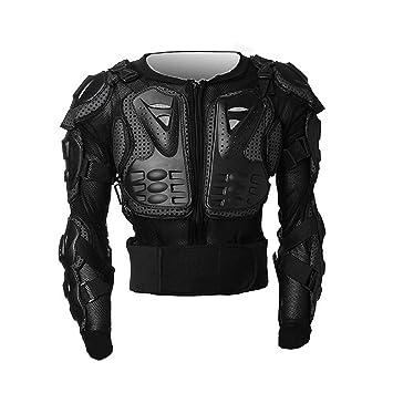 Laurelmartina Motocross Dirt Bike Chaqueta de Armadura de Cuerpo Completo Pecho Hombro Codo Cobertura de plástico Quad Motocicleta Proteger Traje: ...