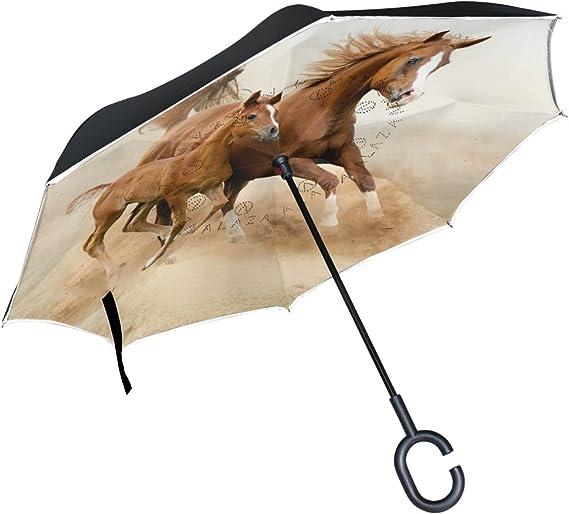 Inverted Umbrella with Tropical Fish Butterflyfish Print Car Reverse Folding Umbrella