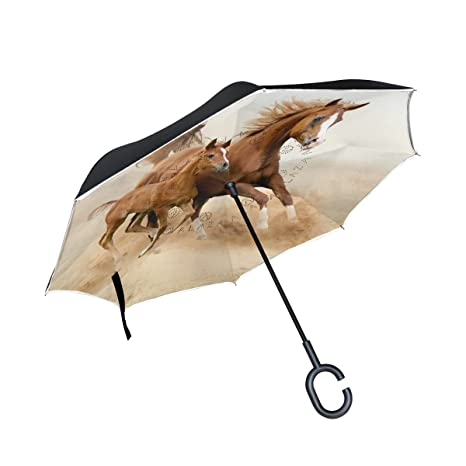 graphic about Umbrella Pattern Printable called : Horse Habit Print Inverted Umbrella Double