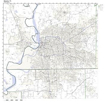 Amazon.com: Memphis, TN ZIP Code Map Laminated: Home & Kitchen