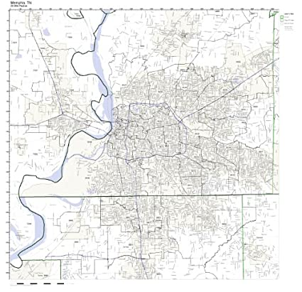 Amazon Com Memphis Tn Zip Code Map Not Laminated Home Kitchen