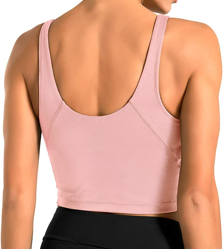 Details about  /Women Cross Back Sports Bra Yoga Crop Top Push Up Running Vest Gym Shirt Fitness
