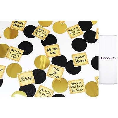 1x Coco & Bo–Harry Potter Quotes Confettis de table–Magical Wizarding Thème fête Décorations/accessoires