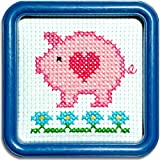 Easy Street Little Folks Sweet Pink Piggy Counted Cross-Stitch Kit