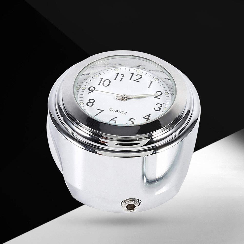 L-DiscountStore Luminoso Moto Manubrio Orologio Impermeabile termometro Universale Moto di White