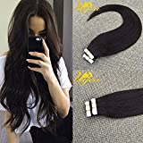 Ugeat Remy Tape in Human Hair Extensions 22inch 25g 10pcs/set Dark Brown 2# Seamless Skin Weft PU Hair Extensions