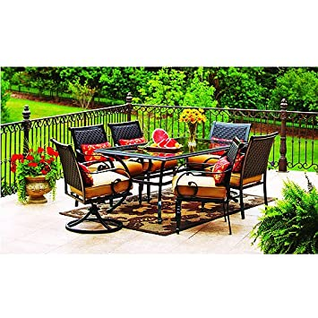 magnificent better homes and gardens englewood heights. Amazon com  Better Homes and Gardens Englewood Heights 7 Piece Patio Dining Set Seats 6 Garden Outdoor