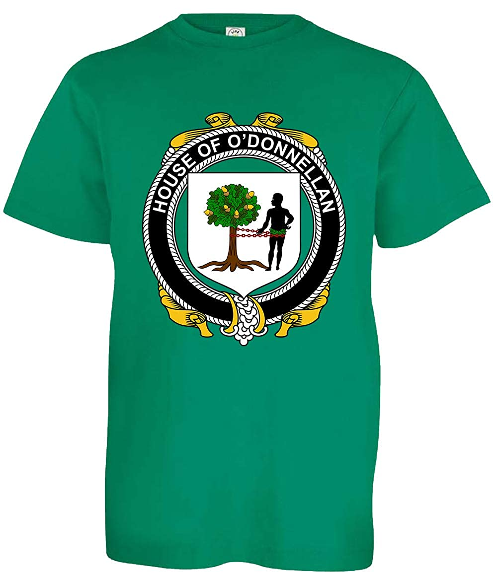 Tenacitee Boys Youth Irish House Heraldry ODonnellan T-Shirt Kelly Green Medium