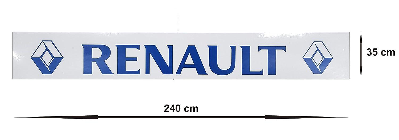 1 unidad Guardabarros trasero de goma resistente de color blanco con solapa de color azul para cami/ón o remolque 240 x 35 cm