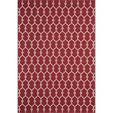 """Momeni Rugs BAJA0BAJ-2RED1837 Baja Collection, Contemporary Indoor & Outdoor Area Rug, Easy to Clean, UV protected & Fade Resistant, 1'8"""" x 3'7"""", Red"""