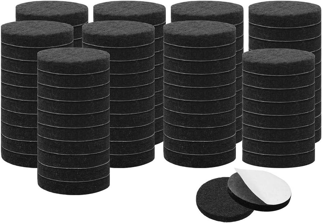 uxcell 90pcs Furniture Felt Pads Round 3/4