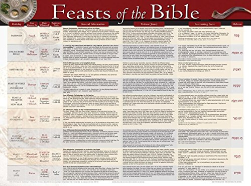 Feasts and Holidays of the Bible-Laminated