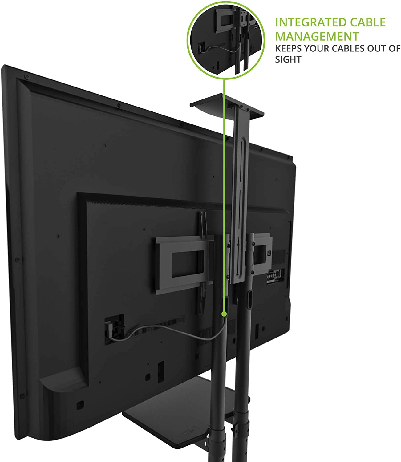 Kanto STM55PL TV Floor Stand with Adjustable Tray for 32