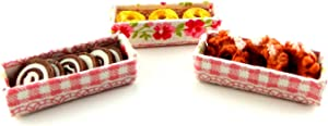 Melody Jane Dollhouse Display Boxes of Donuts & Cakes Miniature Bakery Shop Accessory