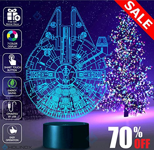 Millennium Falcon Star Wars Lighting Gadget Lamp Decor Aweso