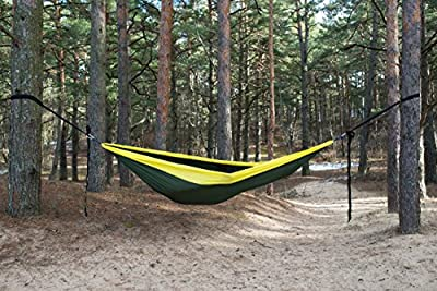 Large Lightweight Parachute Nylon Camping Hammock with FREE 9ft long Tree Straps and FREE Fast packaging Pouch offered by ModernNomad