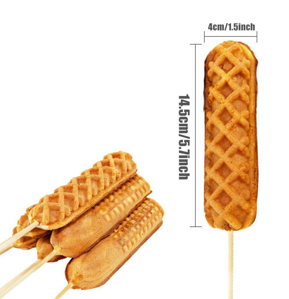 Hot Dog Gofrera, Muffin Salchicha Waffles Antiadherente ...