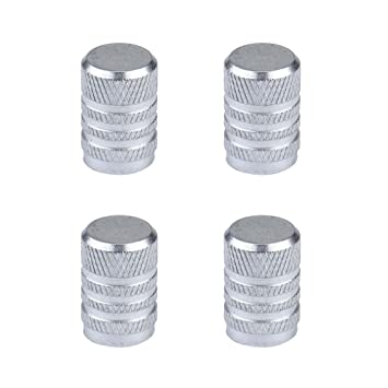 Dsycar Knurled Style With Plastic Core Bike Motorcycle Car Tires Wheel Valve Stem Caps for Car styling Decoration 4Pcs//Box Blue