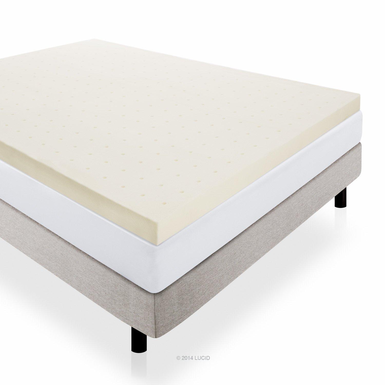 Lucid 4 Inch Memory Foam Mattress Topper 3 Year Warranty Queen Chickadee Solutions