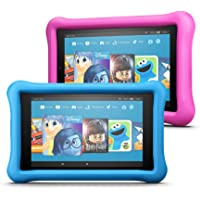 Fire 7 Kids Edition Tablet 2-Pack, 16GB (Blue/Pink) Kid-Proof Case