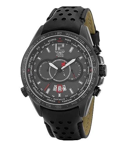 AVIATOR Hombre AVW1372G165 Mundiales Ciudades Reloj Cronógrafo De Diseño: Amazon.es: Relojes