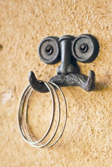 Amazon.com: 1 X Cast Iron Mustache Wall Hook - 3.5\