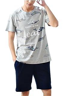 Big Boys Cute Cotton Summer Pajama Sets 2 Pcs Short Sleepwear(10y-18y)