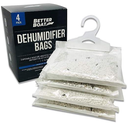 Paquete de 4 deshumidificadores para bote, bolsas para ...