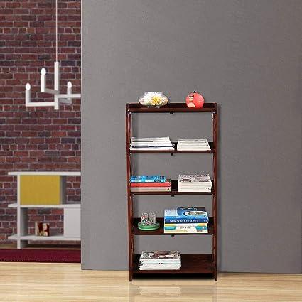 HomeTown Travis Sheesham Wood Book Shelf in Brown Colour