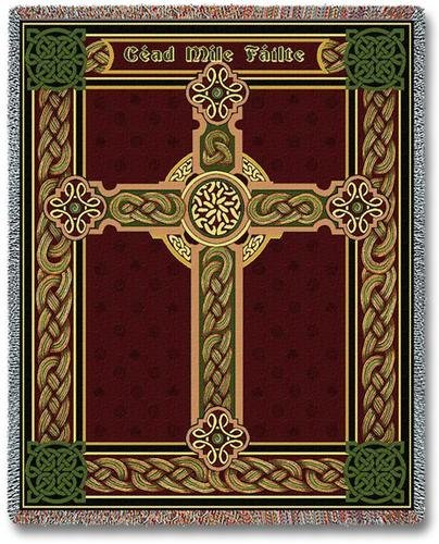 Celtic One Hundred Thousand Welcomes Throw Blanket USA (Celtic Cross Throw)