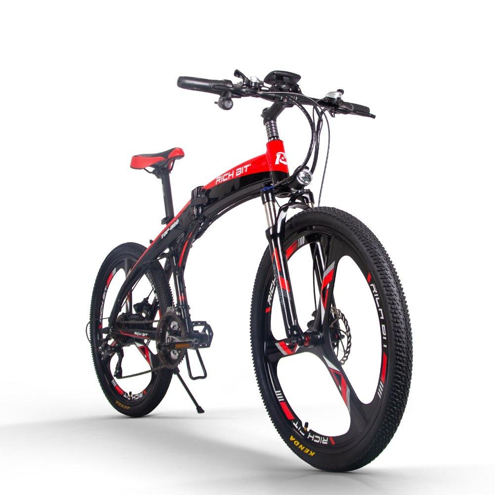 RICH BIT T0P880 電動アシスト自転車 26インチ 折り畳む フレーム パテントがある B07DY35RSR電動アシスト自転車レッド