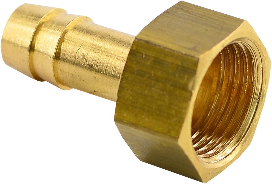 """innen G 1//2"""" Schlauchtülle mit Innengewinde  G 1//2i x 9 mm Gold Messing"""