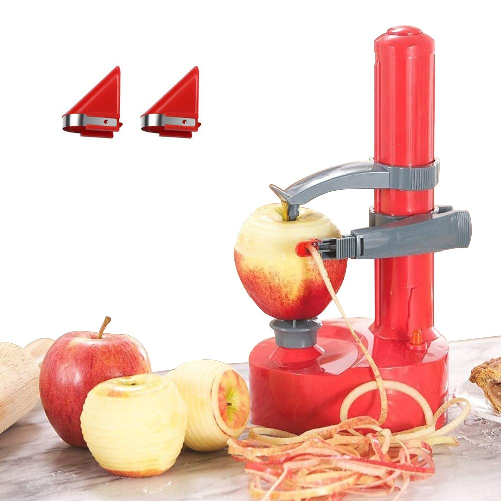 YOUDirect Electric Potato Peeler Automatic Fruit Peeler Machine Rotato Express Rotating Fruit and Vegetable Peeling Machine with 2 Extra Blades by YOUDirect