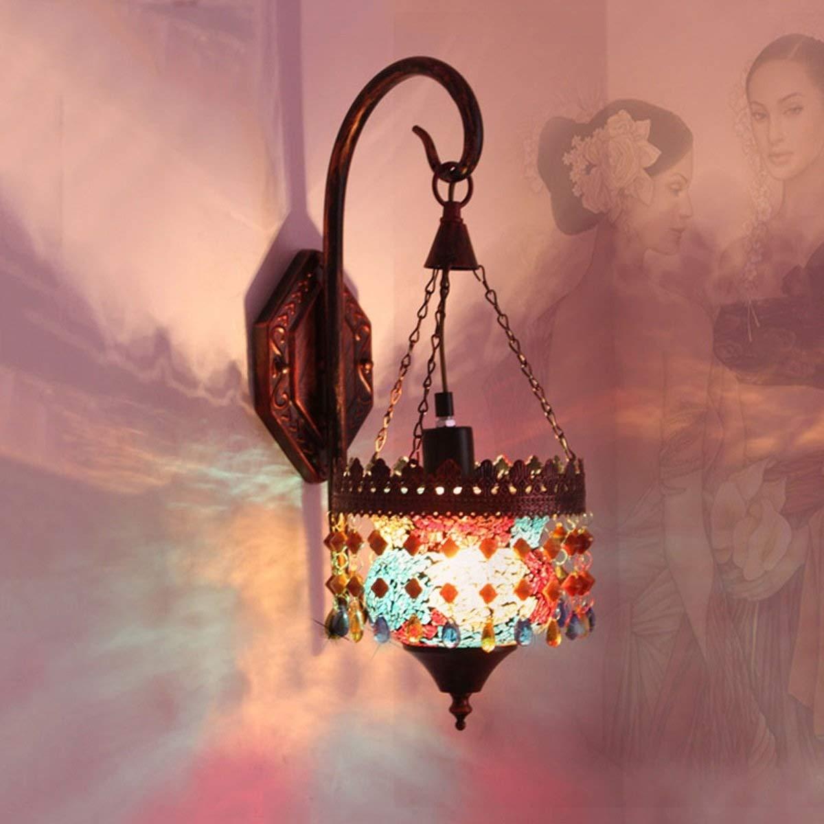 多彩な壁ライト、家の党棒喫茶店の壁ランプのための屋内現代軽い照明器具の照明 B07S1XCL7K