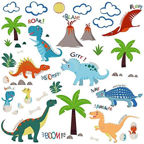 Jurassic World Dinosaurs Decorative Peel & Stick Wall Art Sticker Decals ()