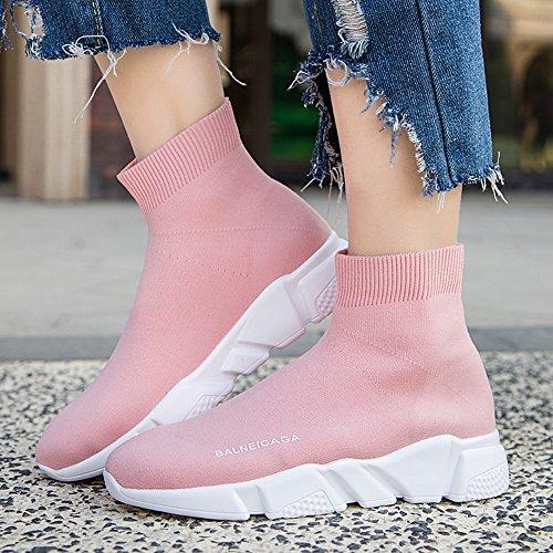 E Pink In Passeggio Uomo Shoes Passeggio Leggere Ultra Da Sneakers Da Sportive Scarpe Maglia Moda EU44 Alla Uomo Scarpe Da Donna Da Traspiranti GSHE Da EU34 v4AUwnq4