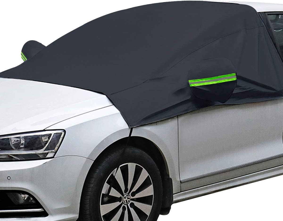 Windshield Snow Cover with Side Mirror Covers, Mirror Snow Covers Protects Windshield and Wipers from Weatherproof, Rain, Sun, Frost, Extra Large Size Fits for Most Vehicles, Cars and SUV