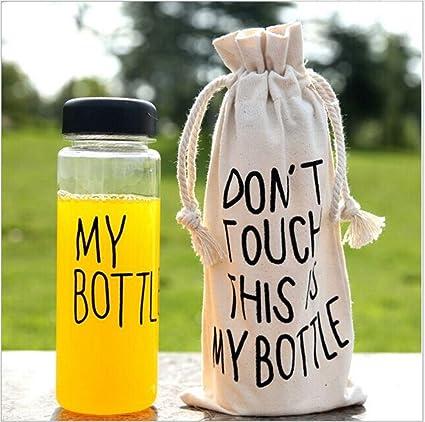 Tumblers Plástico Copa de Agua, Cilíndricos Plástico Jugo Botellas Prensado en frío Transparente Grado alimenticio