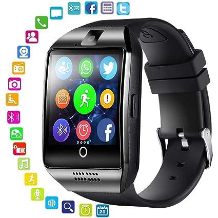 Montre connectée Bluetooth avec Appareil Photo, Emplacement pour Carte SIM, Musique, téléphone Portable débloqué pour Android, Samsung et iOS univesal ...