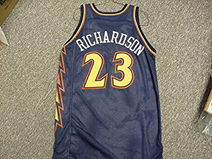 pretty nice 05d94 0c0b7 Jason Richardson. Golden State Warriors Navy Lightning Bolt ...